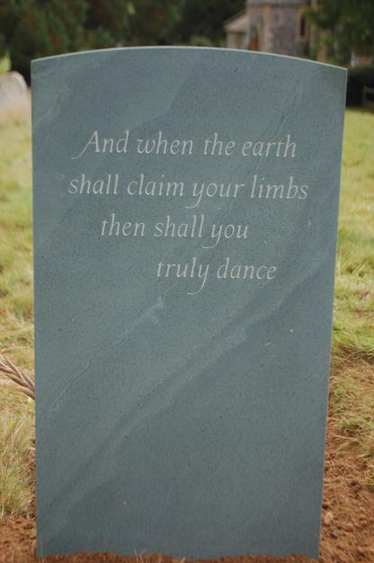 Dying Wishes For A Headstone