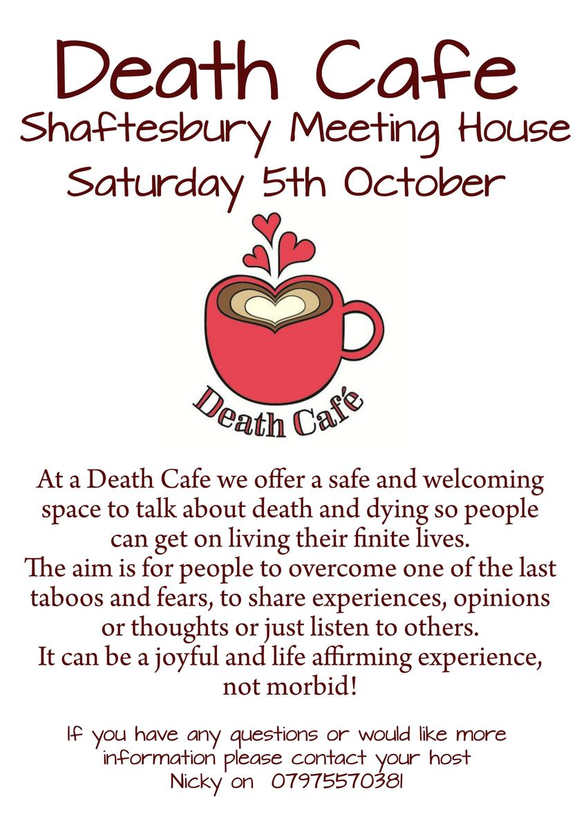 Shaftesbury Meeting House Death Cafe