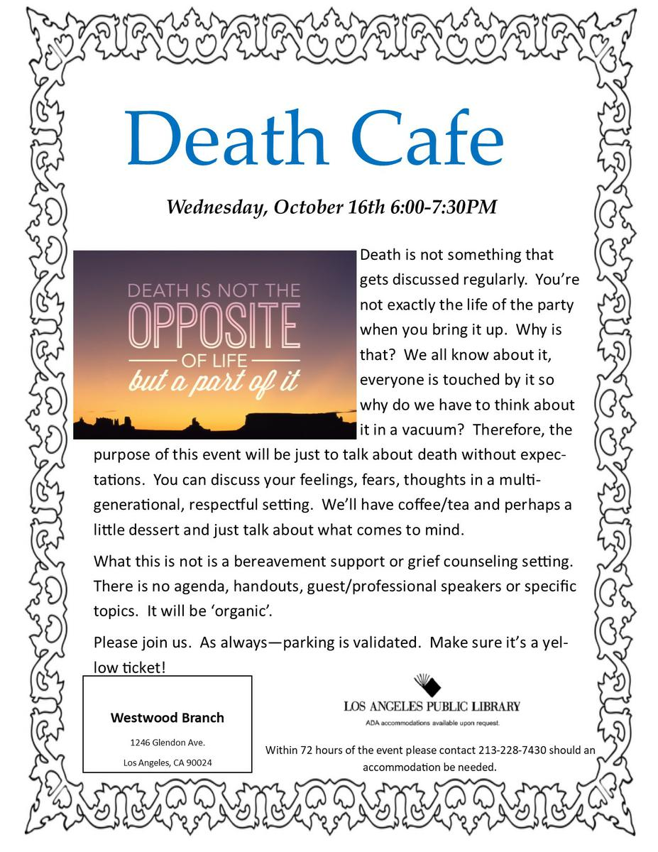 Death Cafe in Westwood