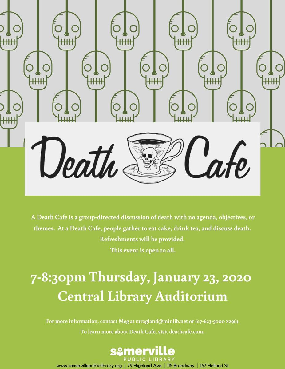Somerville Central Library Death Cafe