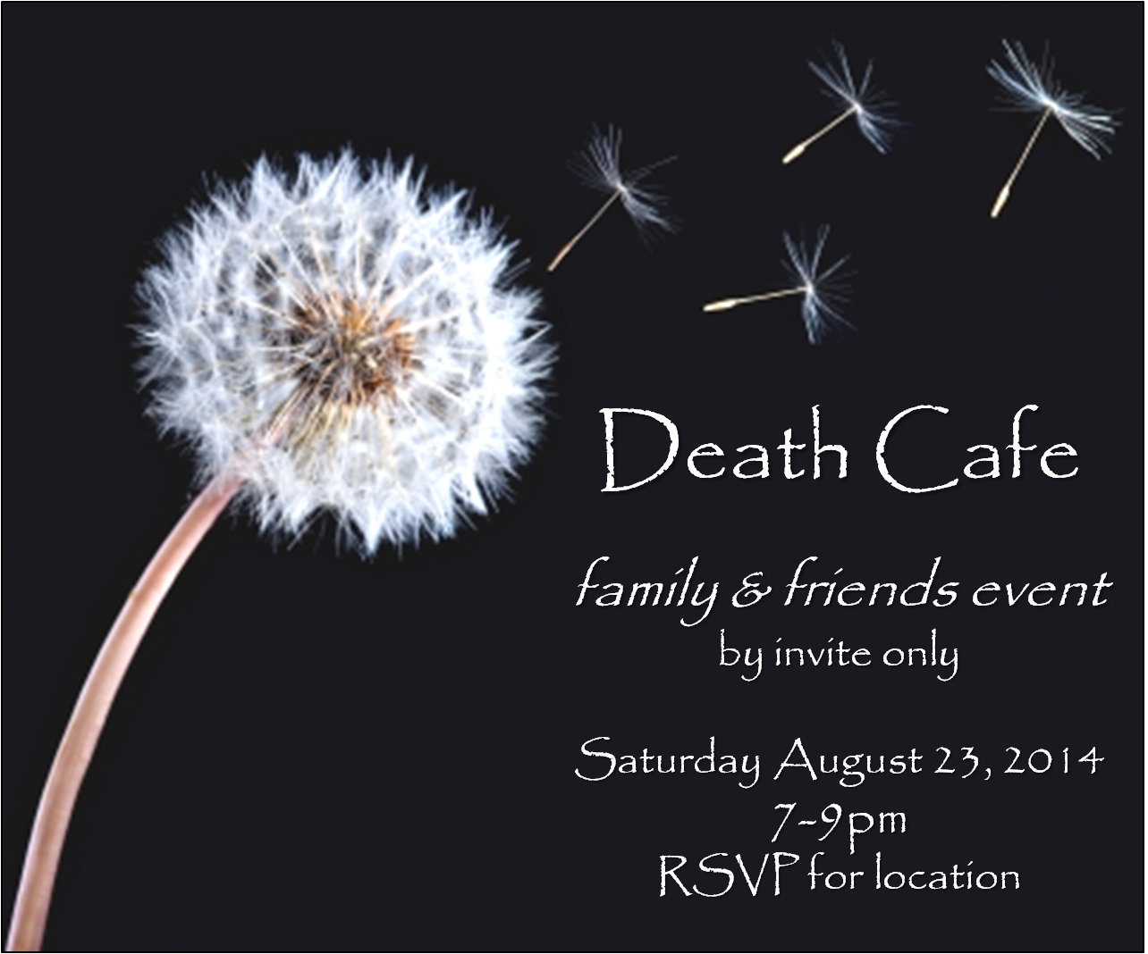 Death Cafe - family & friends event