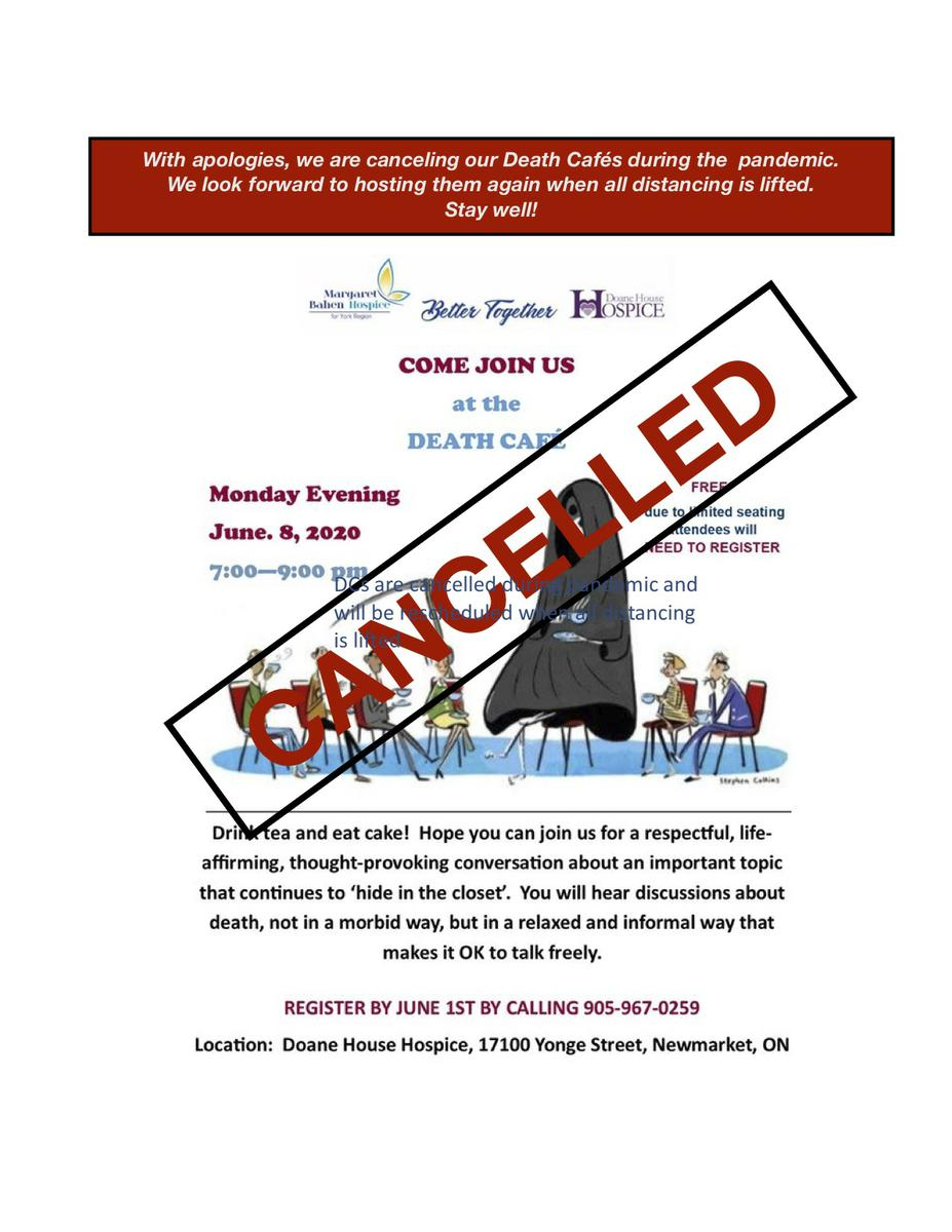 CANCELLED Death Cafe  Newmarket ON