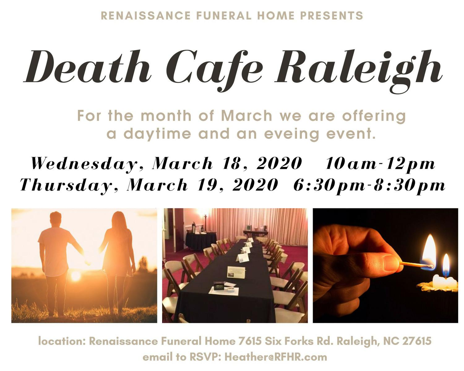 Death Cafe Raleigh-CANCELED
