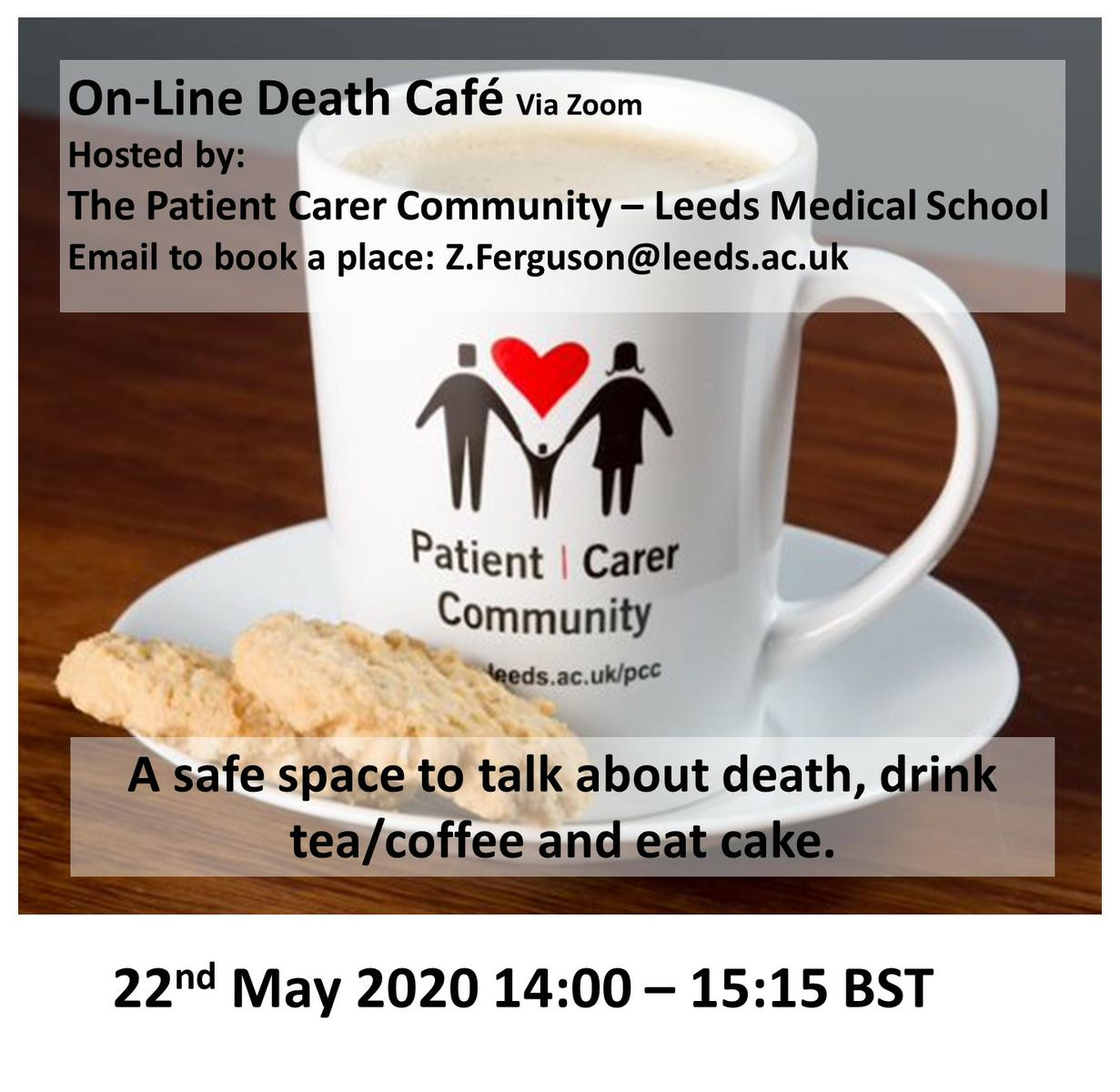 On-line Death Cafe in West Yorkshire BST