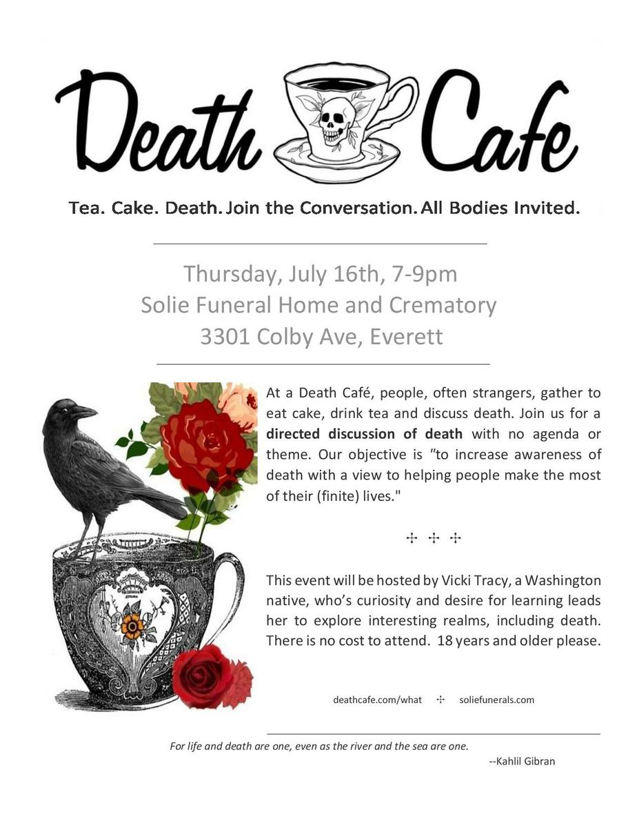 Death Cafe-Everett, Wa