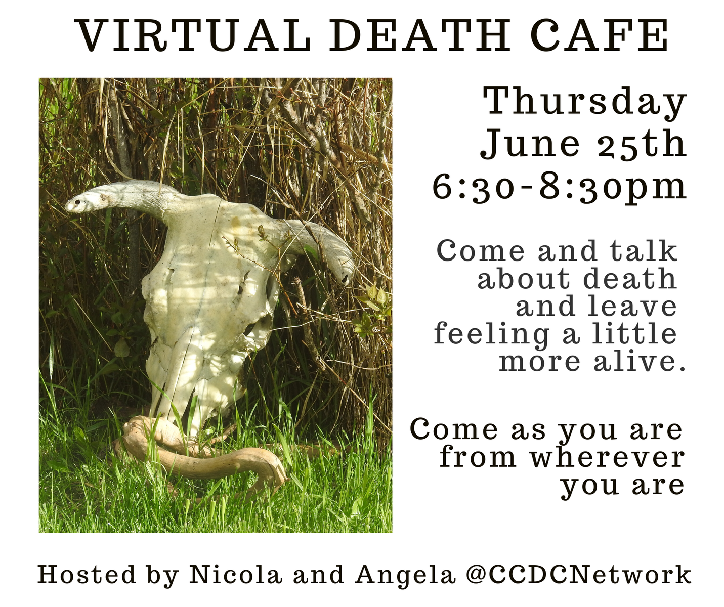 Virtual Death Cafe Pacific Time