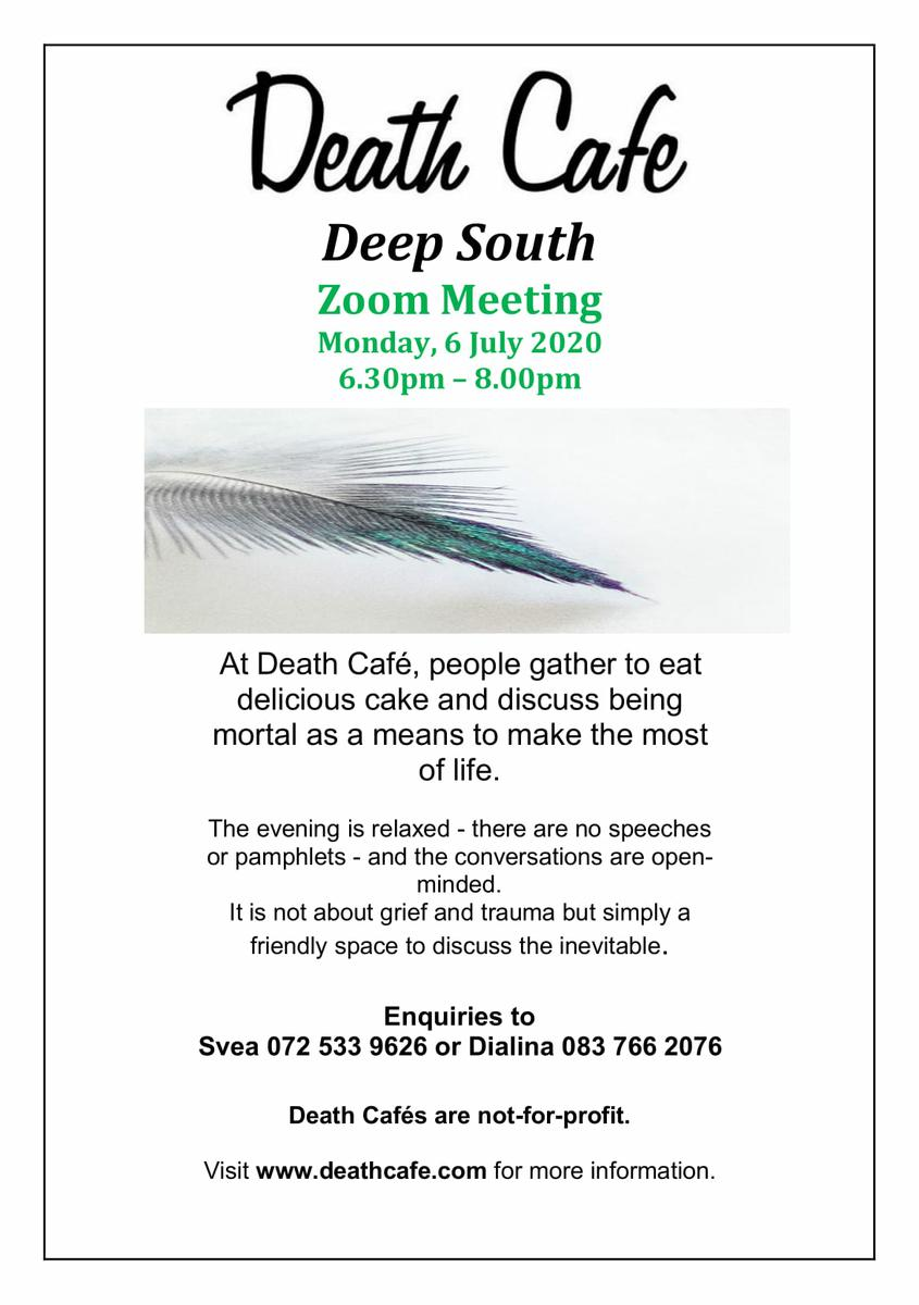 Virtual Death Cafe - Deep South- South Africa