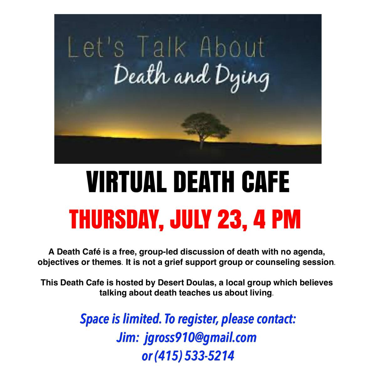 Coachella Valley Virtual Death Cafe Pacific Time