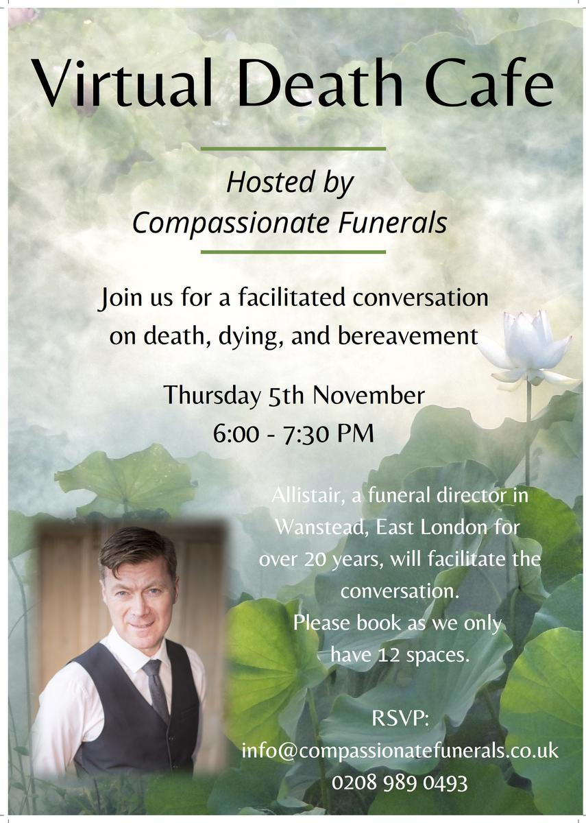 GMT Virtual Death Cafe hosted by Compassionate Funerals