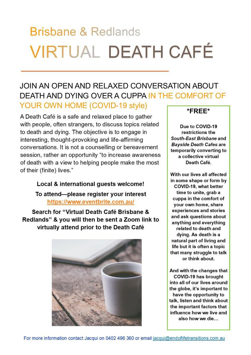 Virtual Death Cafe Brisbane & Redlands