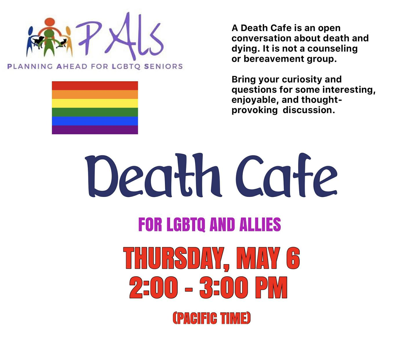 Death Cafe Palm Springs ONLINE Pacific Time