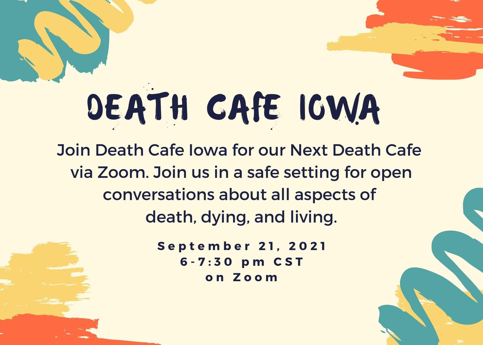 Online Death Cafe Iowa CDT September