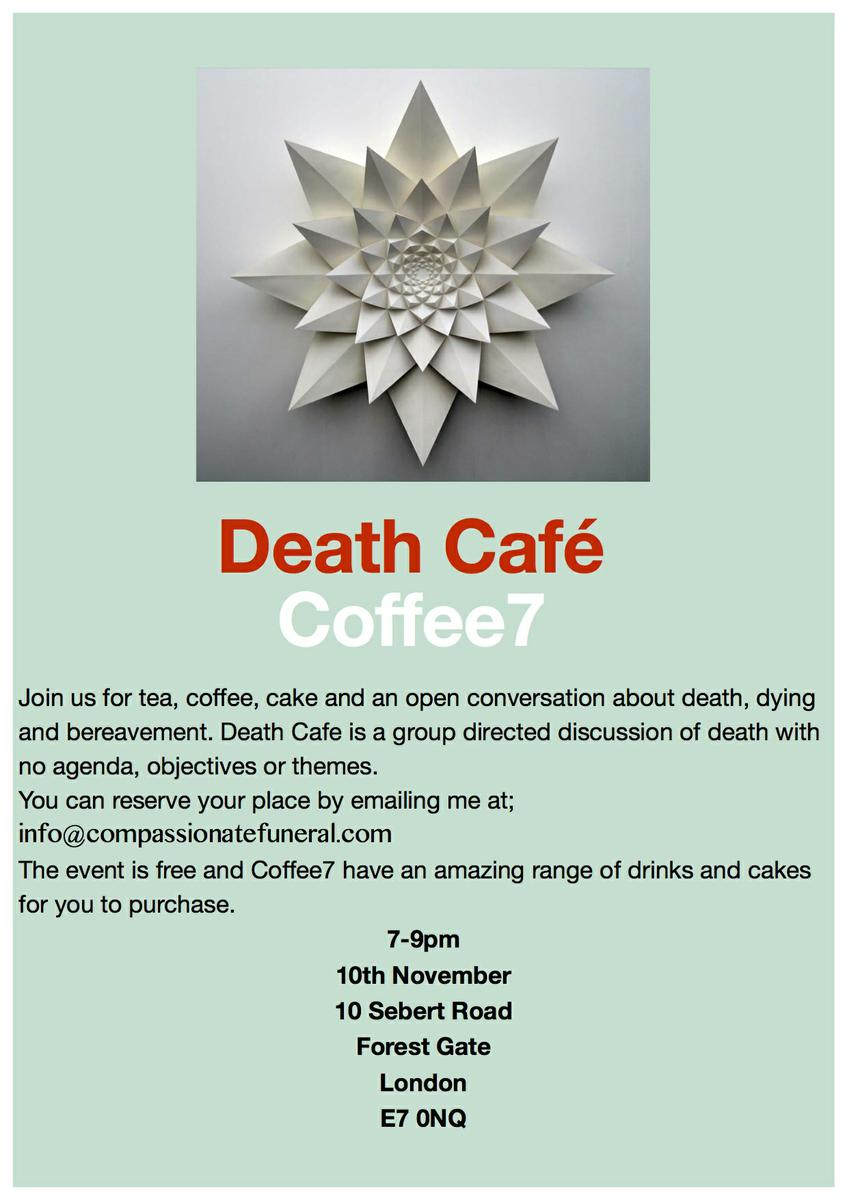 Death Cafe in Forest Gate, East London