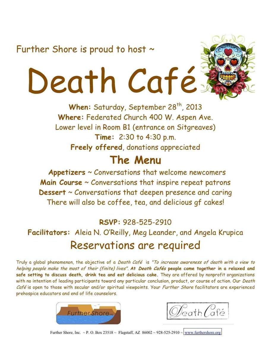 Death Cafe in Flagstaff, Arizona