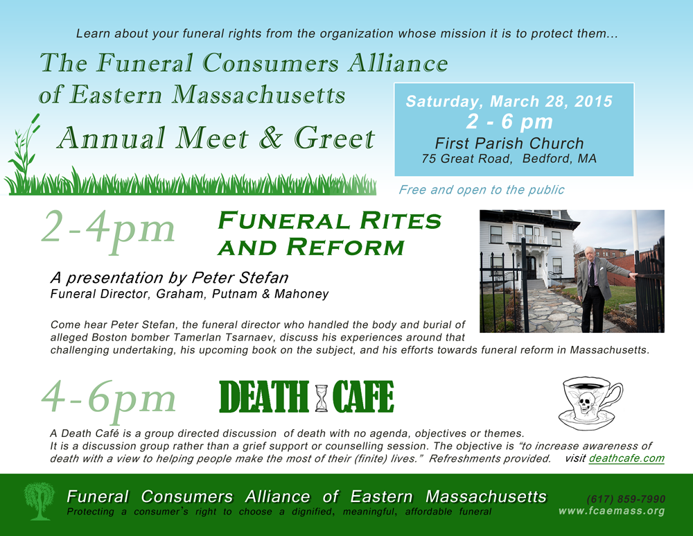 Death Cafe in Bedford, MA