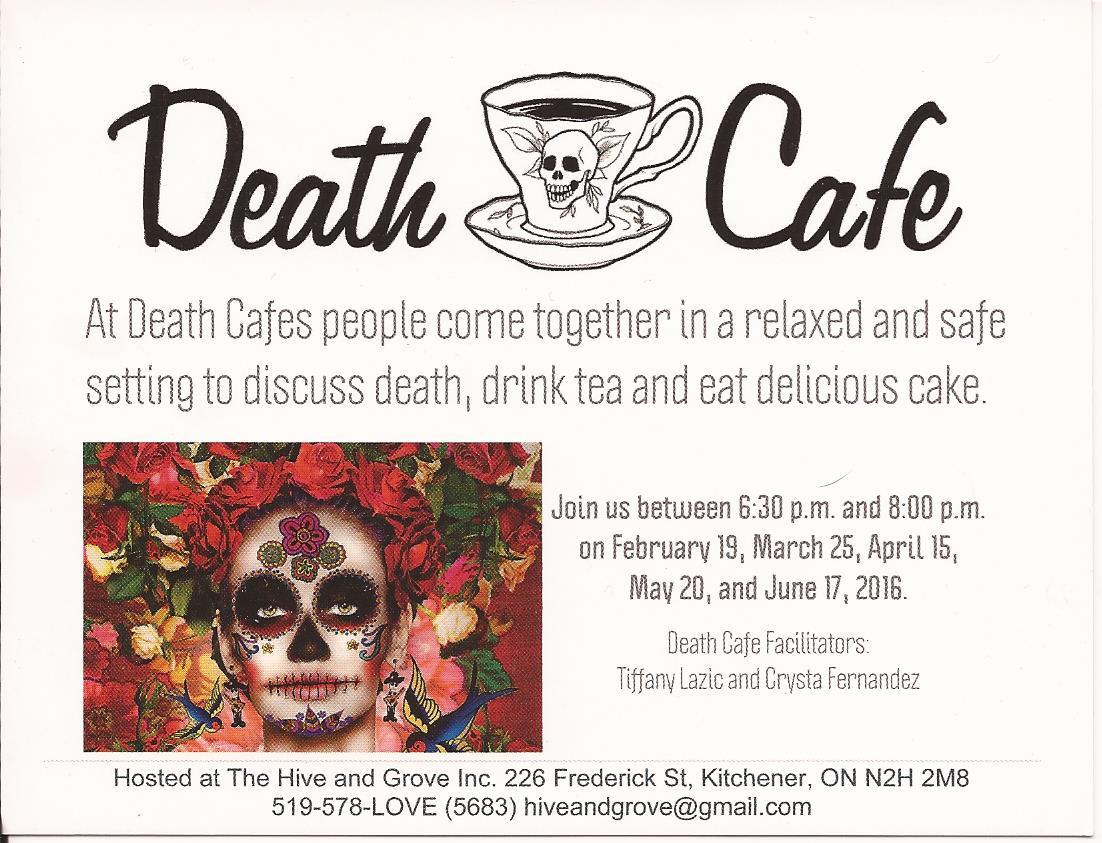 Death Cafe in Kitchener, Ontario