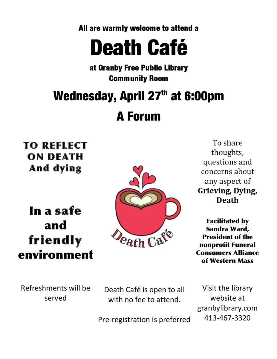 Death Cafe in Granby, MA