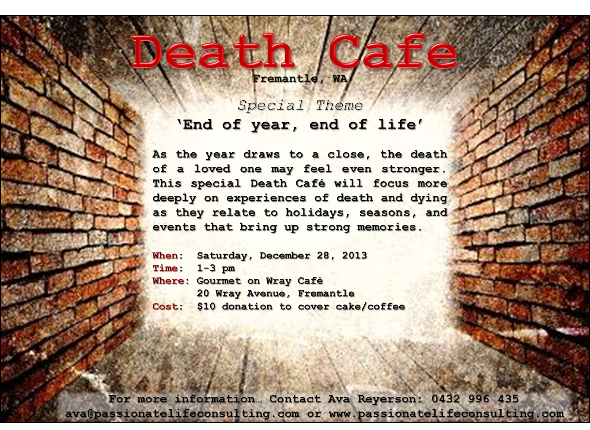 Death Cafe - Fremantle, WA - Special Event - 'End of Year, End of Life'