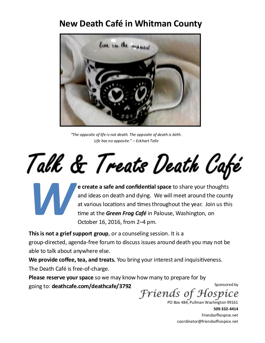 Death Cafe in Palouse, Washington