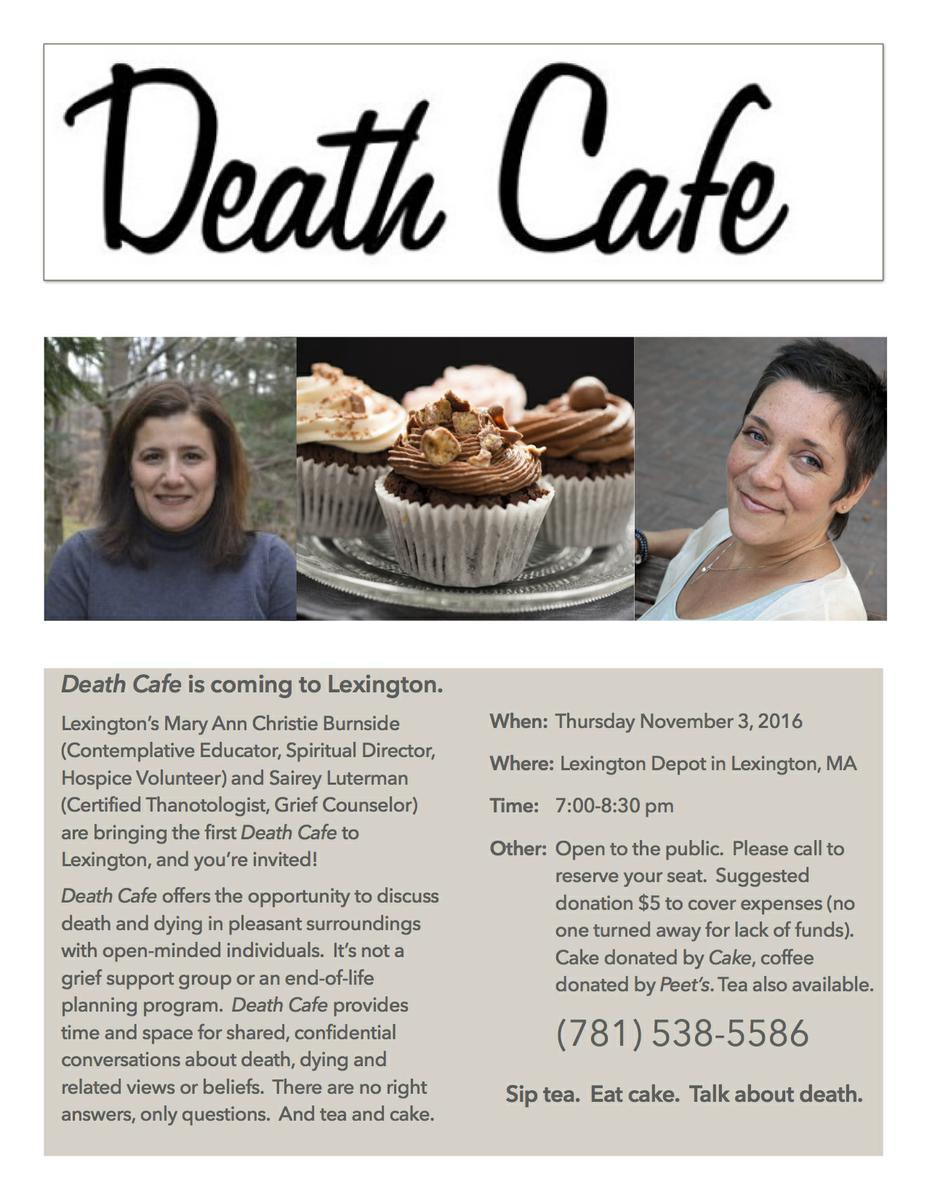 Death Cafe in Lexington, MA