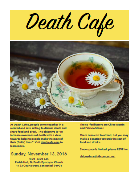 Death Cafe in San Rafael, CA