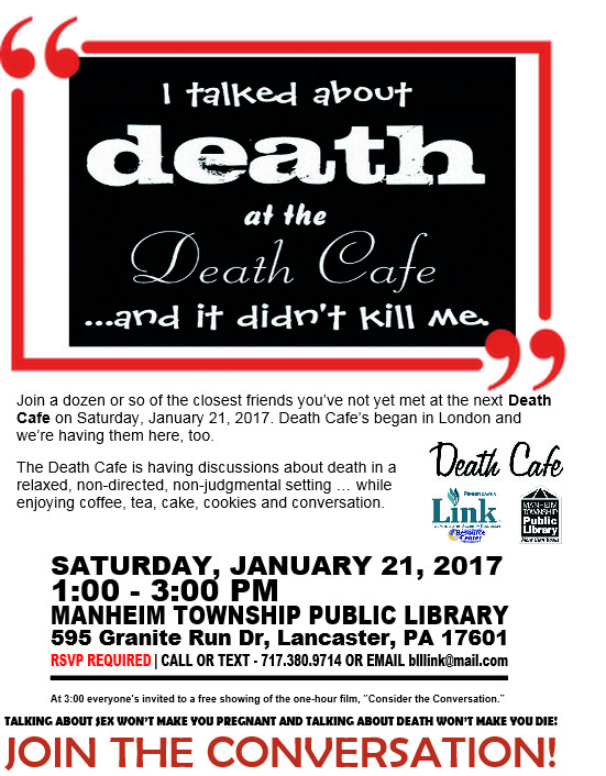 Lancaster County's first Death Cafe of the new year
