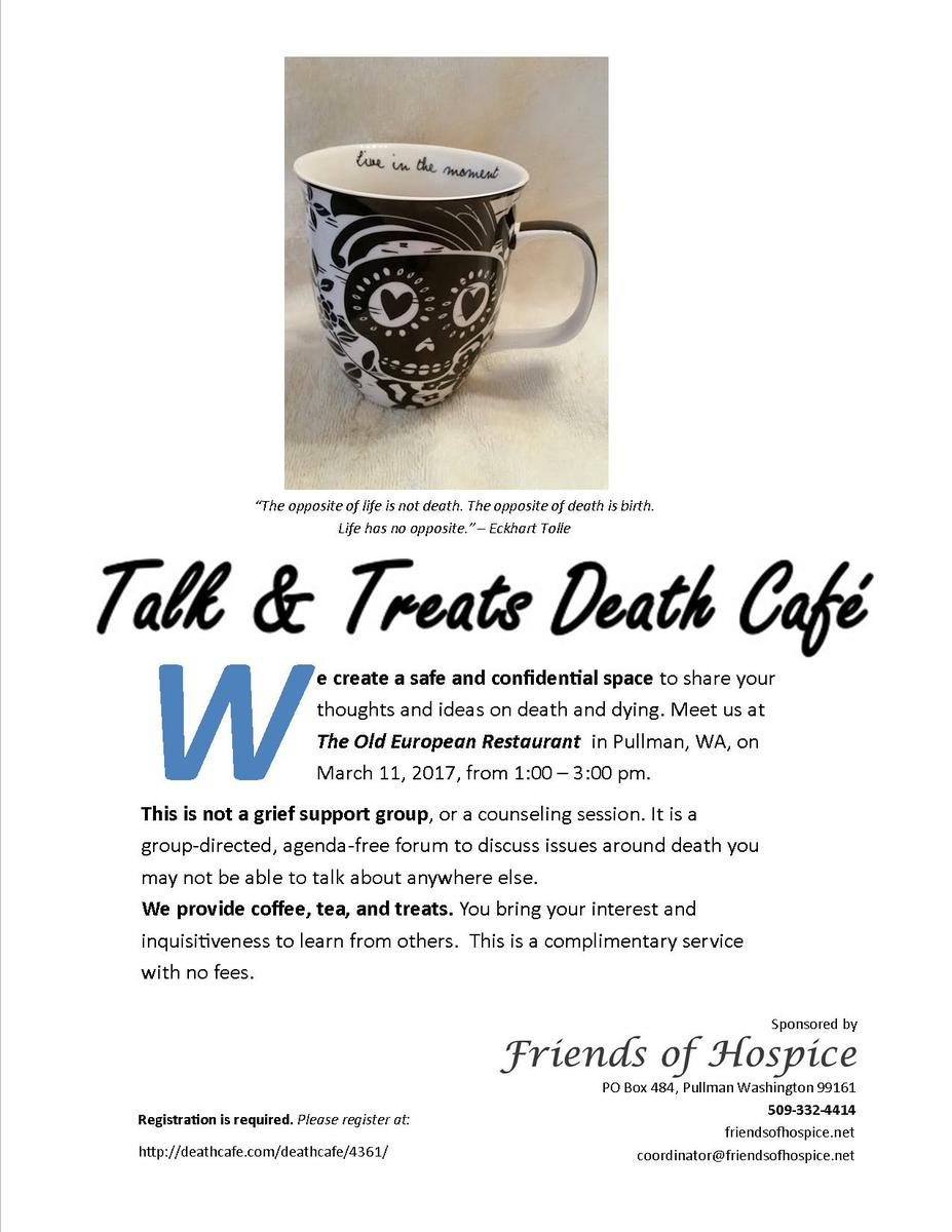 Death Cafe in Pullman, WA