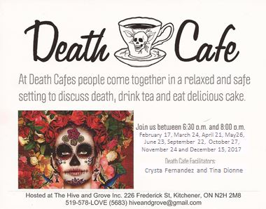 Death Cafe in Kitchener, Ontario