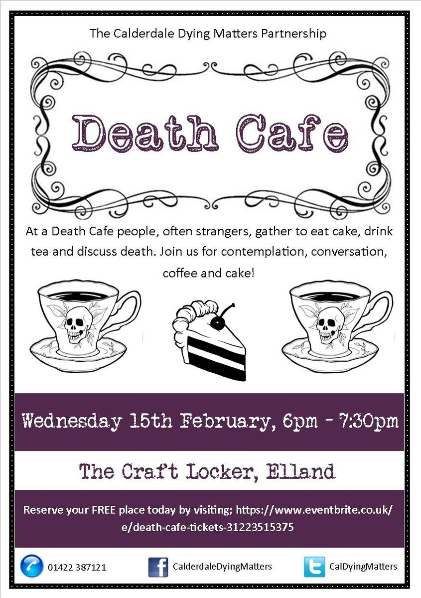 Death Cafe in Elland, West Yorkshire