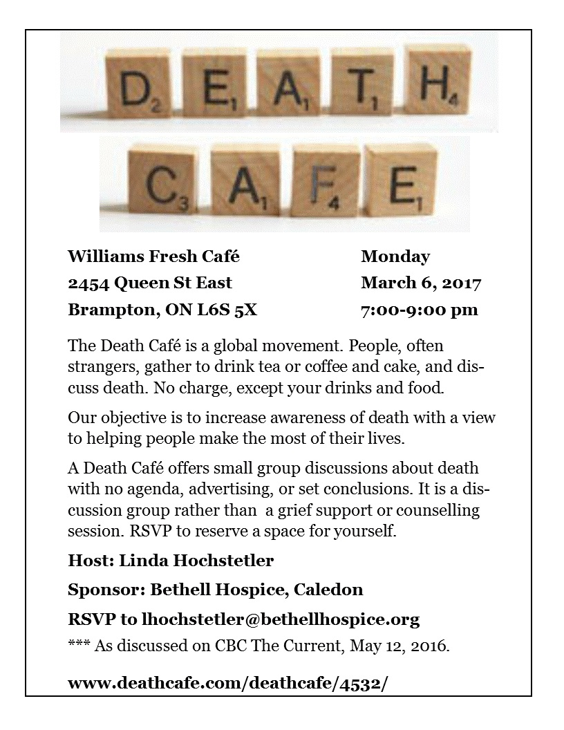 Death Cafe - Brampton