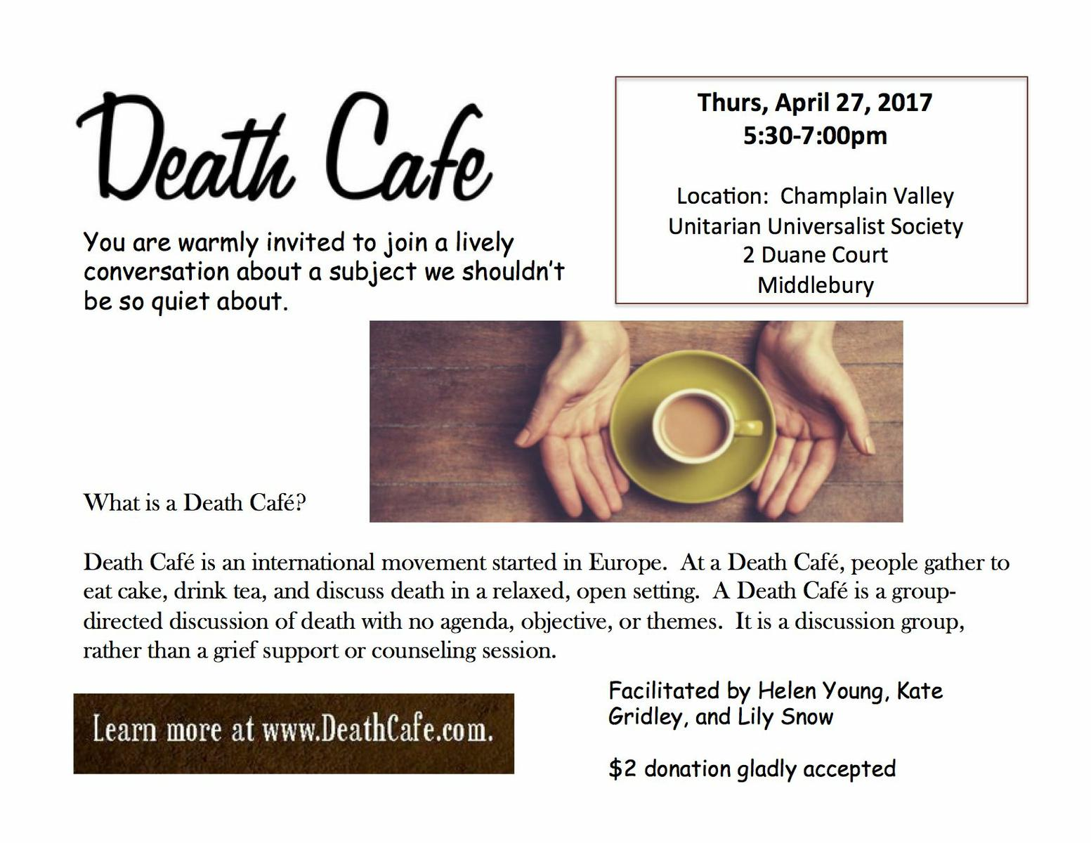 Death Cafe Middlebury
