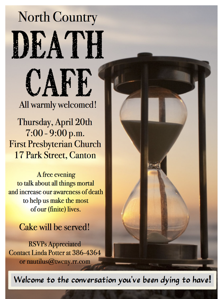 Death Cafe in Canton New York
