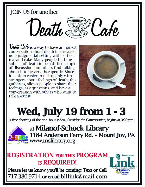 Death Cafe in Mount Joy