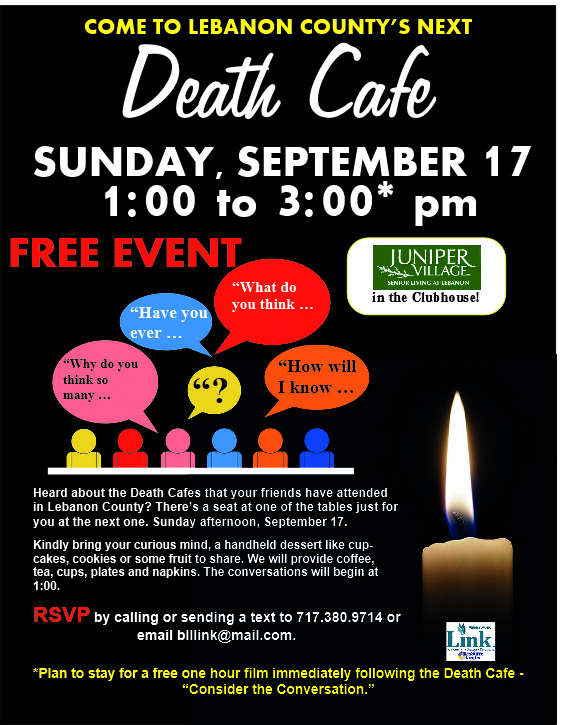 Lebanon County Death Cafe at Juniper Village