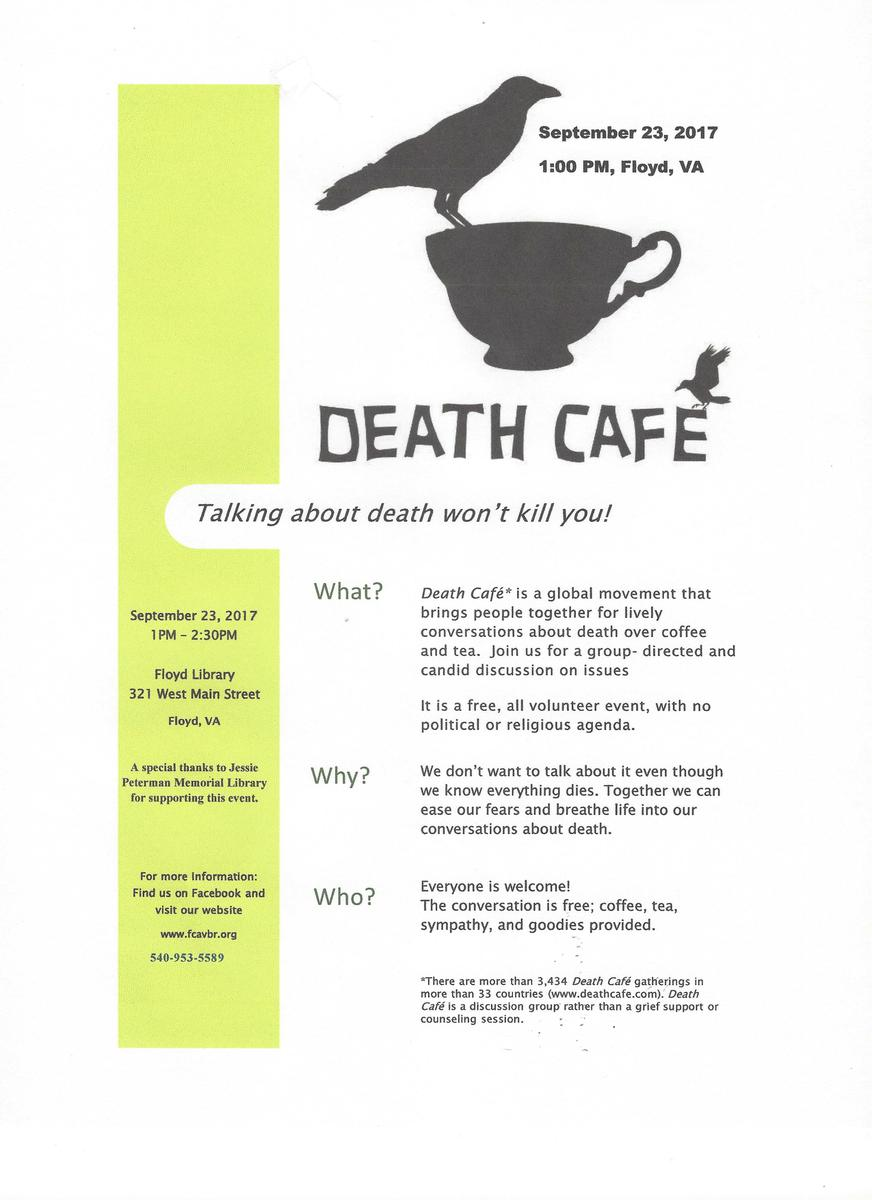 Death Cafe in Floyd, VA