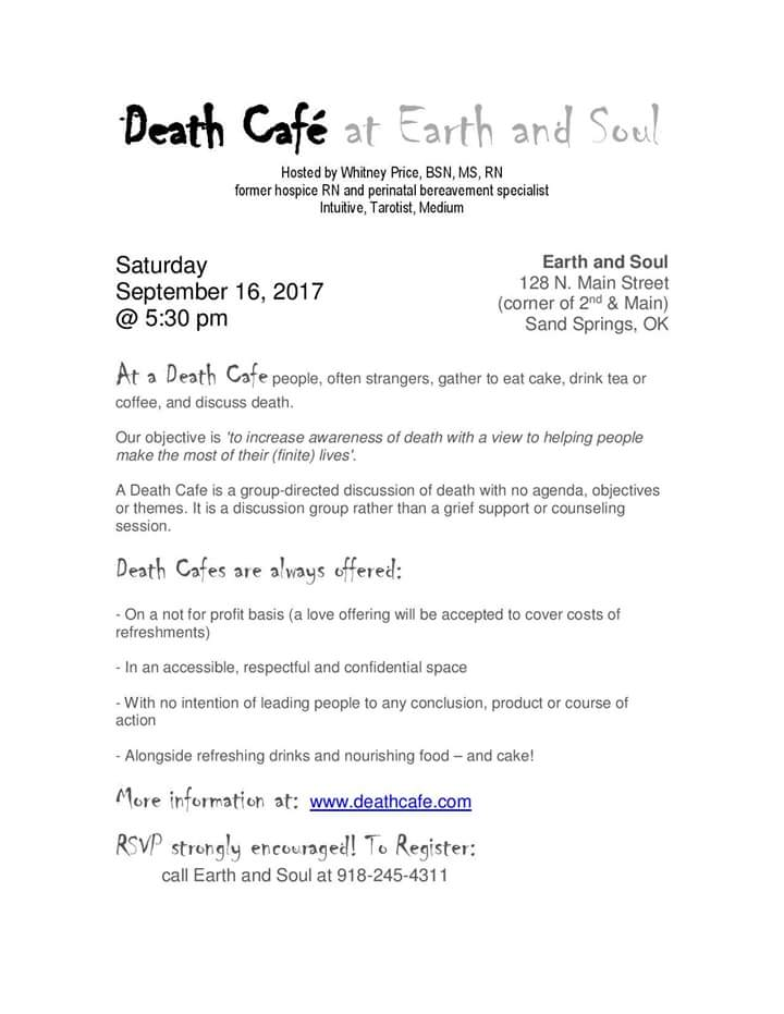 Death Cafe Earth and Soul