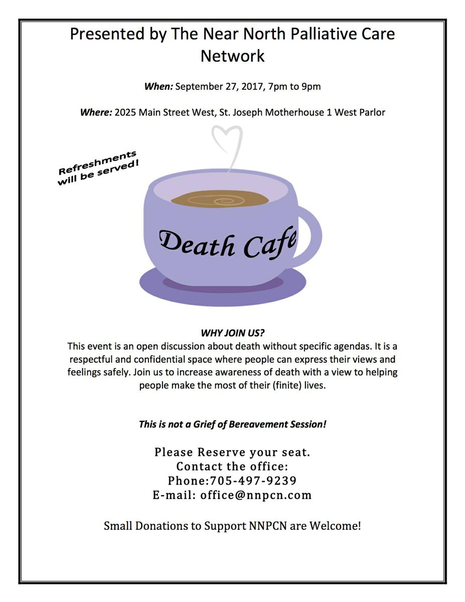 Fall Death Cafe - North Bay, ON