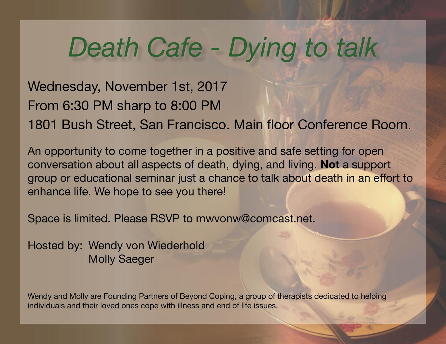 Death Cafe - Dying to talk