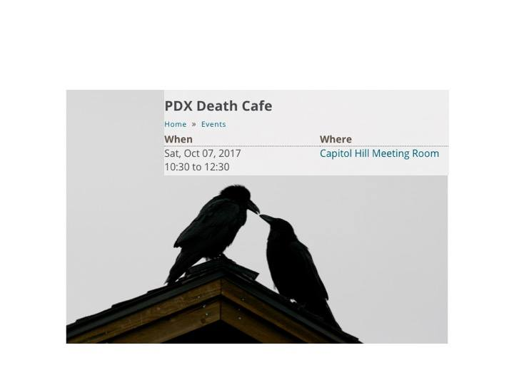PDX Death Cafe at Capitol Hill Library