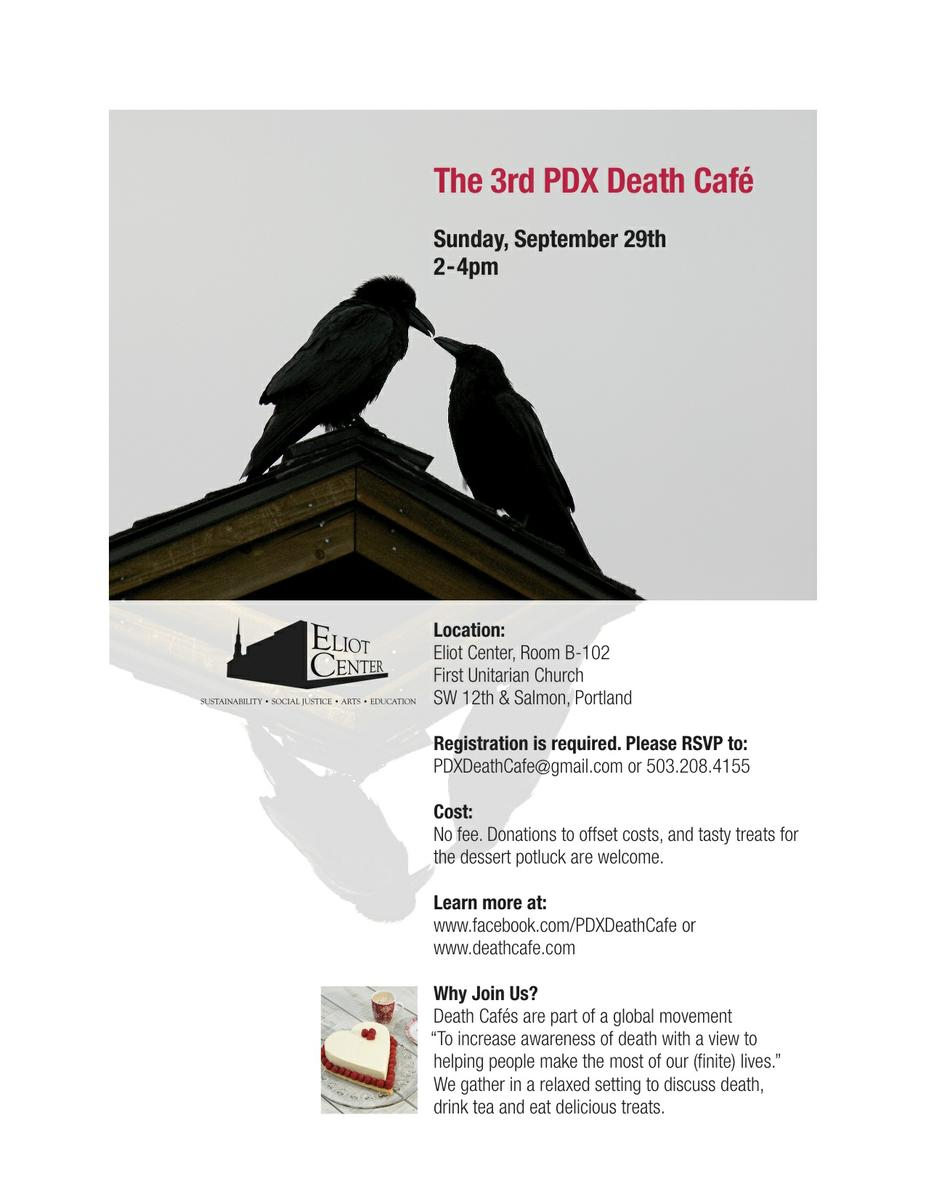 The 3rd PDX Death Cafe - REGISTRATION CLOSED