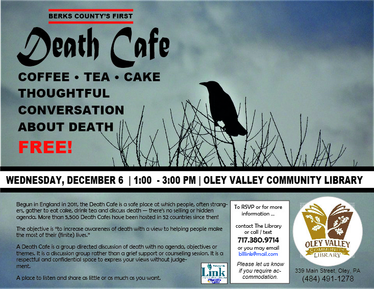 The first Death Cafe at the Oley Valley Community Library