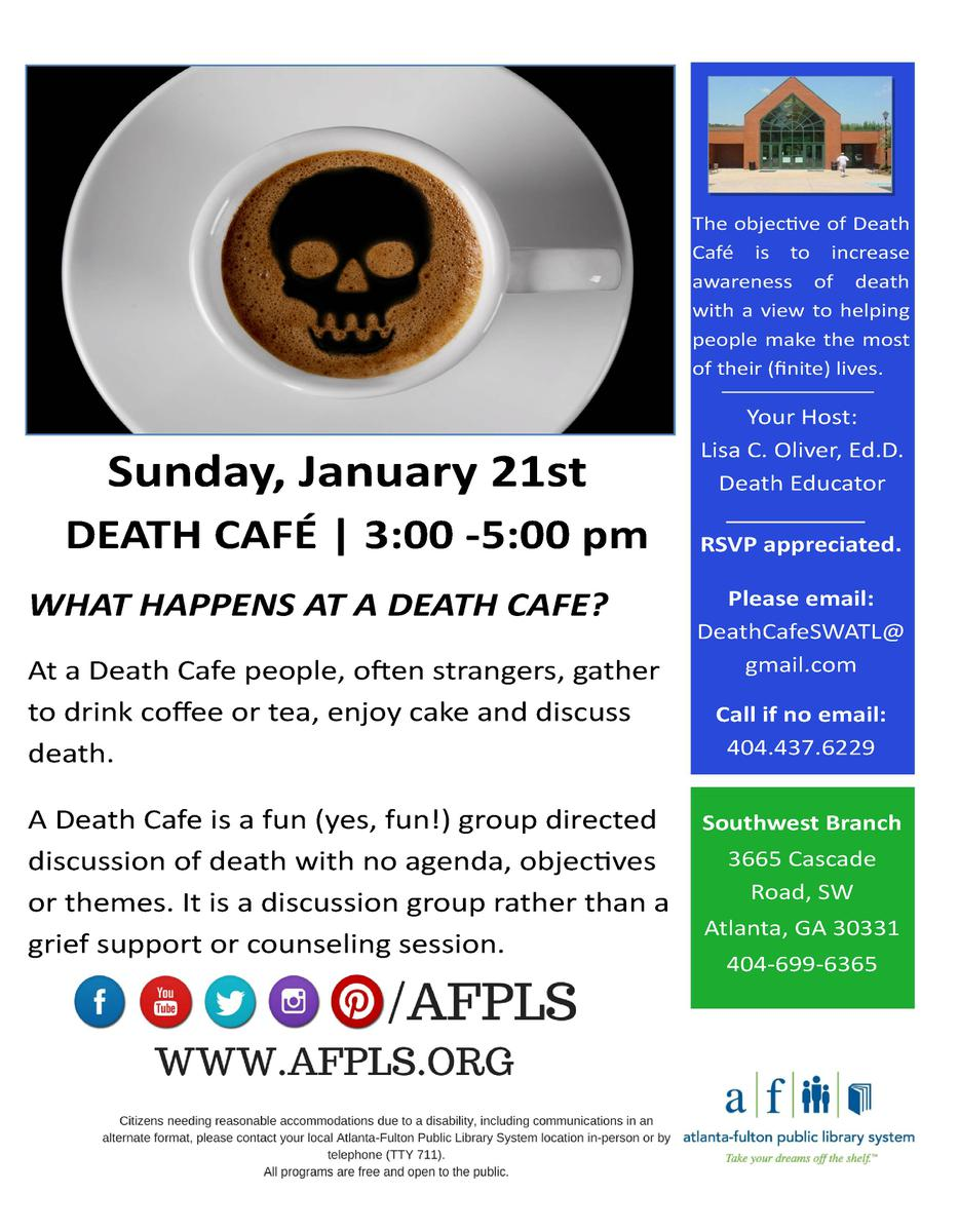 Death Cafe #3 -- Southwest Atlanta, GA