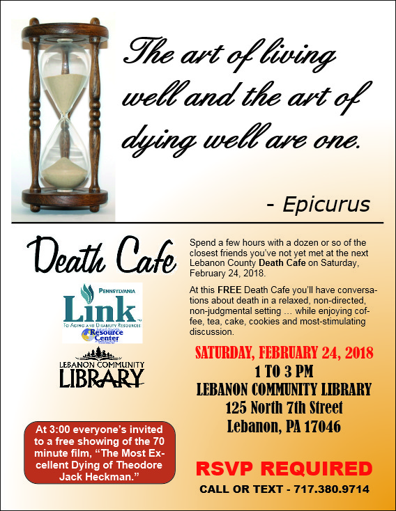 Death Cafe III at the Lebanon Community Library