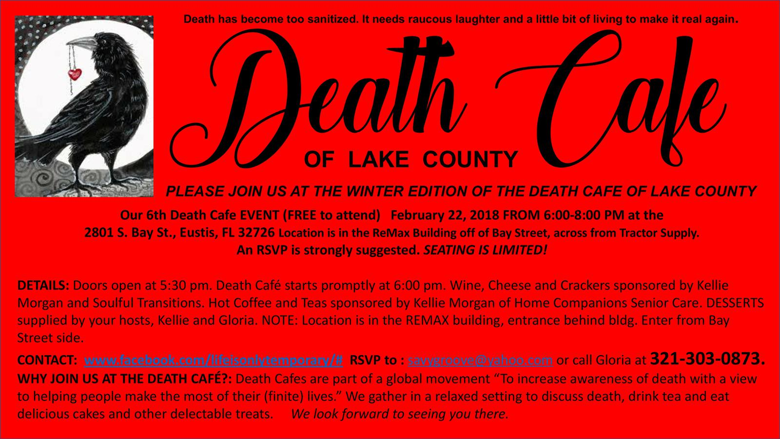 Death Cafe of Lake County Winter Edition