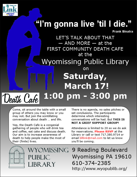 Wyomissing Public Library's FIRST Death Cafe