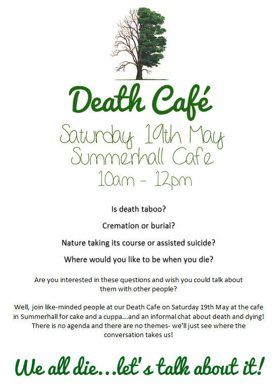 We all die...let's talk about it! (Death Cafe- Edinburgh)