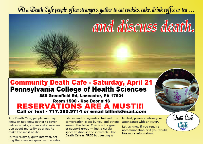 CANCELED - A Community Death Cafe at Pennsylvania College of Health Sciences