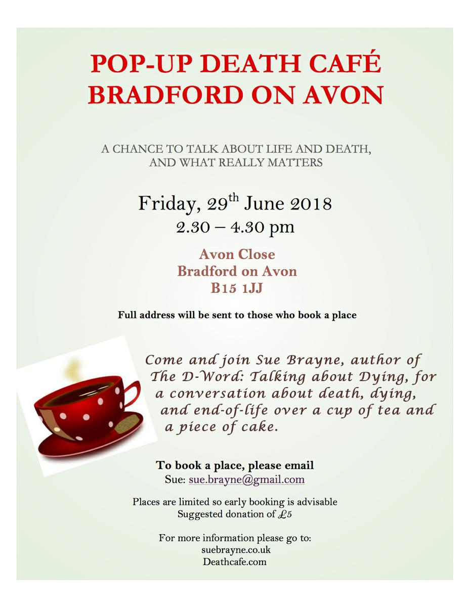 Pop up Death Cafe Bradford on Avon