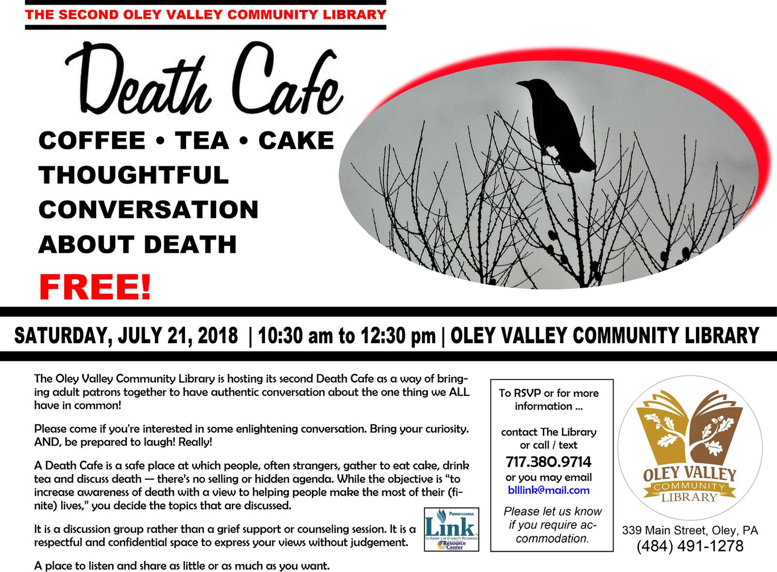 Oley Valley Community Library Death Cafe
