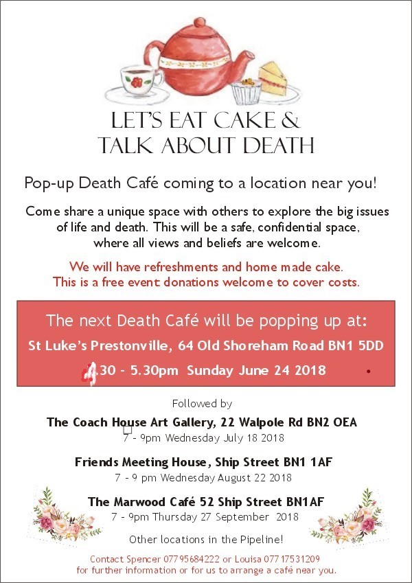 Free Talk Thursday September 22nd Lets >> The Popup Death Cafe Brighton